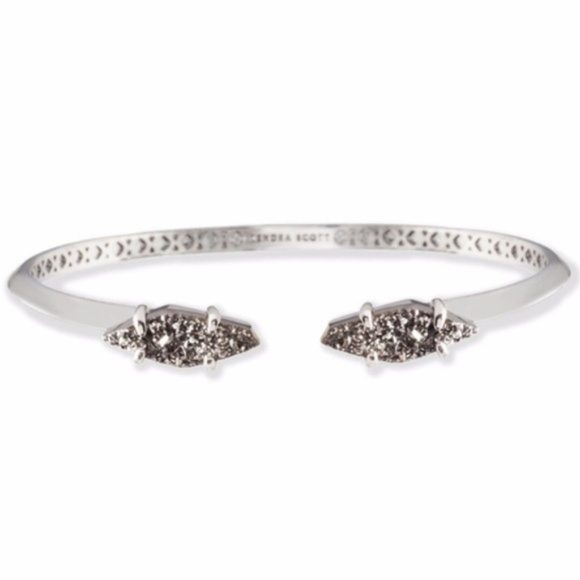 Kendra Scott Jewelry - Kendra Scott Bianca Cuff Bracelet Platinum Drusy